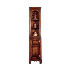 Miniature oak corner cupboard