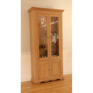 Pelham Wide Glazed Bookcase
