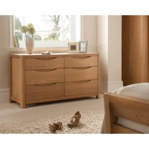Stockholm Wide 6 Drawer Dressing Chest