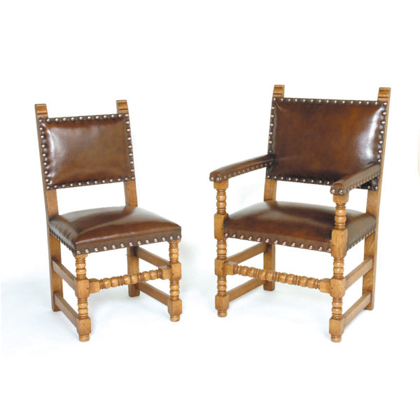 Titchmarsh & Goodwin Cromwell Elbow Chair in Hide