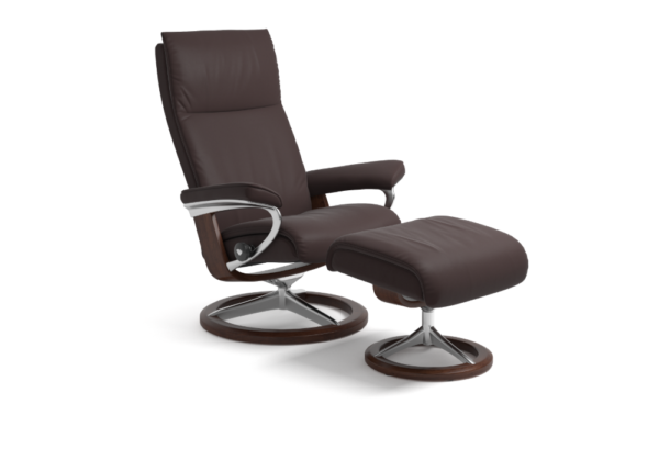 Aura Signature chair in Chocolate Brown