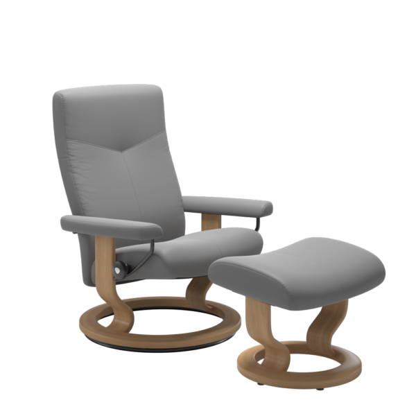Stressless Dover chair in Dove grey