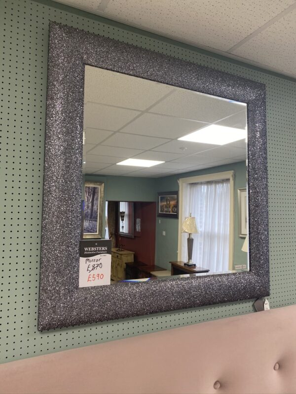 Glitter framed Mirror